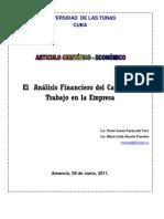 Analisis Financiero Del Capital de Trabajo