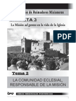 Tema7-Las CEB, Responsable de La Mision