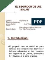 PRESENTACIÓN DEL PROYECTO PANEL SEGUIDOR DE LUZ SOLAR