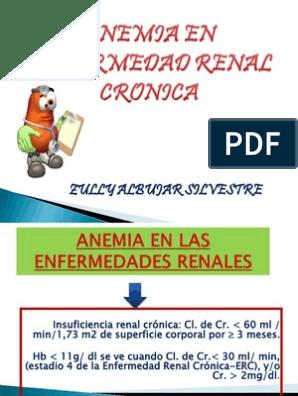 Anemia por insuficiencia renal cronica