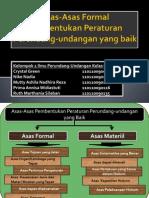 Asas-Asas Formal Pembentukan Peraturan Perundang-Undangan Yang Baik