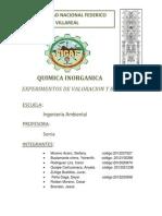 Informe de Quimica Laboratorio Unido