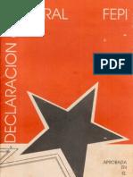 Declaración General de la FEPI