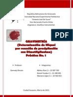 Gravimetría (Informe)