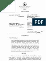 Beckett vs. Judge Sarmiento   Gross Ignorance of the Law Custody of minors.pdf