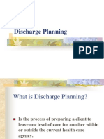 Dischargedischarge planning report Planning
