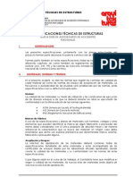 A. Especificaciones Tecnicas Estructuras