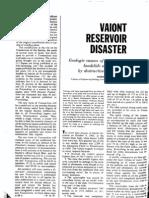 Vaiont Reservoir Disaster