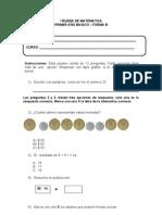 revisada ....PRUEBA DE MATEMATICA 1° BÁSICO forma b claves