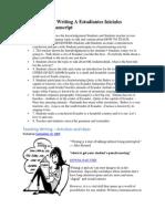 CóMo EnseñAr Writing A Estudiantes Iniciales Presentation Transcript