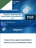 Reporte Ejecutivo Proyecto Experimental Enero 19 Del 2013 V5