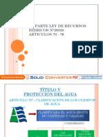 ARTICULOS 73-76LEY DE RECURSOS HIDRICOS N°29338