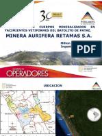 Mina Aurifera Retamas s.A