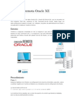 Conexión remota Oracle XE