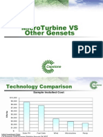 Microturbine vs. Other Generation Sets
