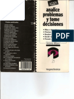 Analice Problemas y Tome Decisiones - Serie Accion - Editorial Granica