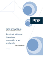 trabajo de finanzas diseño  de objetivos y estrategias.