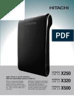 HD Externo Hitachi X500 - Datasheet