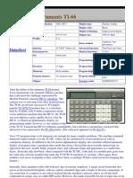 Texas TI-66 Datasheed