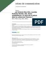 Diaz Gito, Manuel A., Lourdes Rubiales Bonilla, éds, Homo sympathecus. Le sens de la nature dans la culture de l'homme
