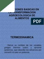 Operaciones Basicas en La Transformacion Agroecologica de Alimentos
