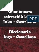 Diccionario Quechua Inga-Castellano