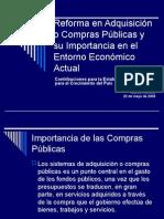 La reforma de la adquisición pública y su importancia en el clima económico actual