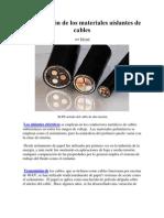 Comparación de los materiales aislantes de cables
