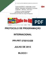 ATA DE PROTOCOLO DE PROGRAMAÇÃO  INTERNACIONAL1