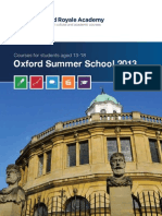 Oxford Royale Academy 2013 Course Brochure