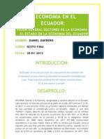 La Economía En El Ecuador
