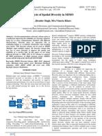PP 153-156 Analysis of Spatial Diversity in MIMO Jiten