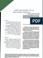 RECONCEPTUALIZACIÓN DE LA EDUCACIÓN ESPECIAL.