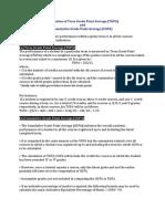 Calculation of CGPA TGPA