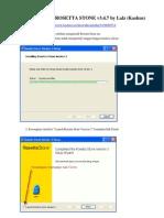 Manual Instalasi Rosetta Stone v 3.4.7 Windows