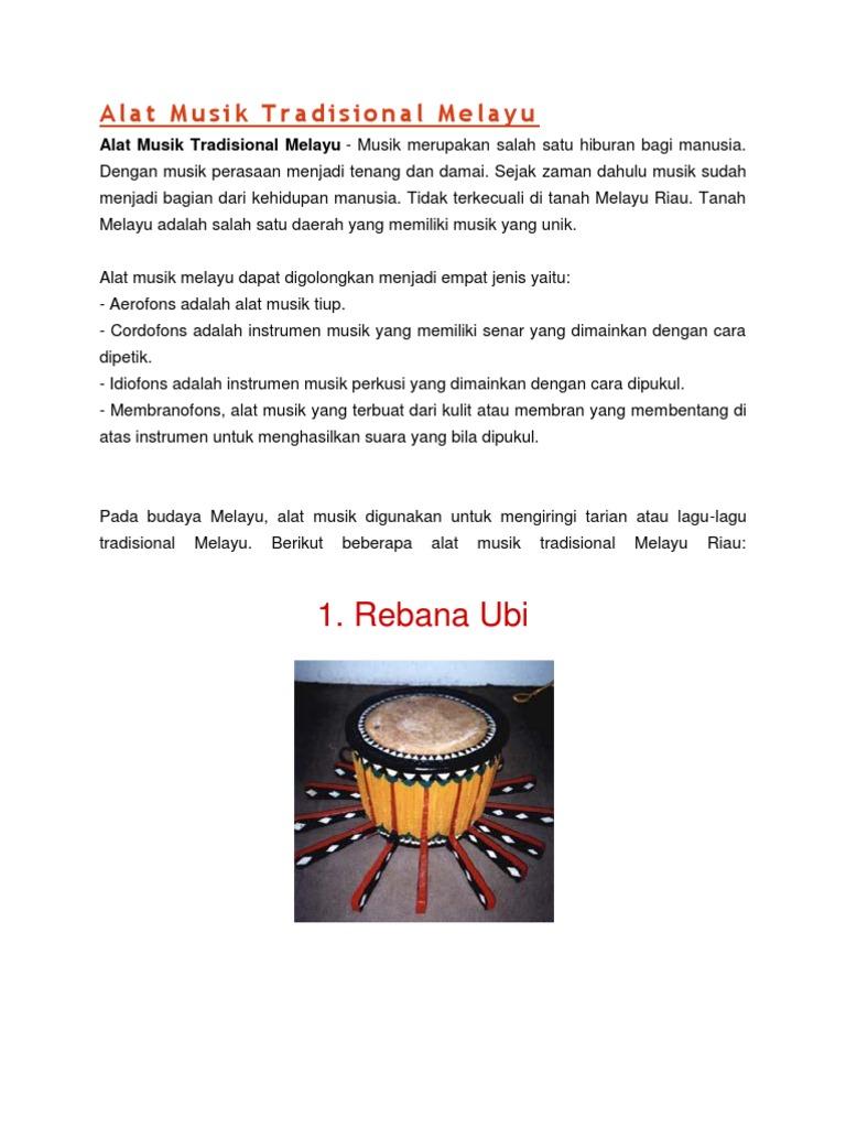 Alat Musik Tradisional Melayu