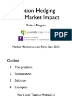 Options Hedging With Market Impact [R. Almgren] Presentation. 2012