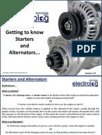 Starter and Alternator - Information