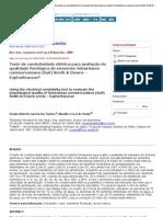 Revista Brasileira de Sementes - Using the electrical condutivity test to evaluate the physiological quality of Sebastiana commersoniana (Bail) Smith
