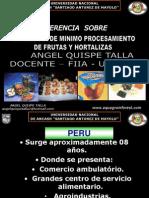 Conferencia Para Unab Minimo Procesamiento - Angel Quispe Talla