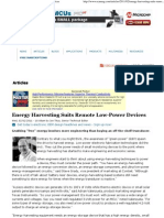Energy Harvesting Suits Remote Low-Power Devices