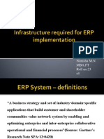 Infrasructure Required for ERP Implementation