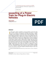 Modelling of a Power Train for Plug in Electric Vehicles