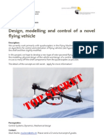 IDSC-RD-MM-12 Design Modelling and Control of a Novel Flying Vehicle SP MT