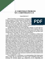 1 Cor 5.1-8 - Corinthian Problem