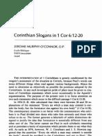 1 Cor 6.12-20 - Corinthian Slogans