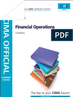CIMA F1 Financial Operation Study Text