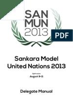Delegate Manual - SanMUN 2013