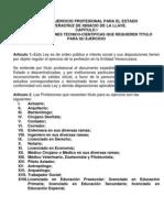 Ley Del Ejercicio Profesional Para El Estado