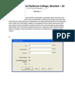 Practical 4 Printout